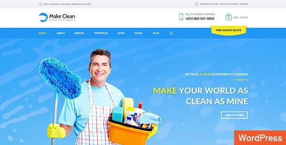 Themeforest Make Clean v1.0.3 - Cleaning Company WordPress Theme