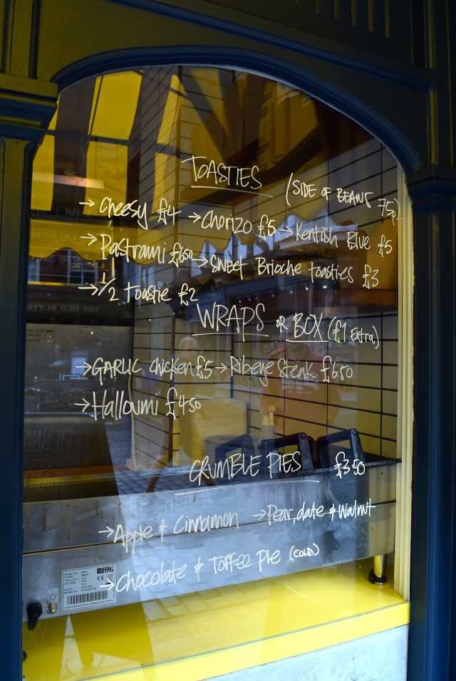 Toastie Menu at Little Joe's Deli, Canterbury | www.rachelphipps.com @rachelphipps