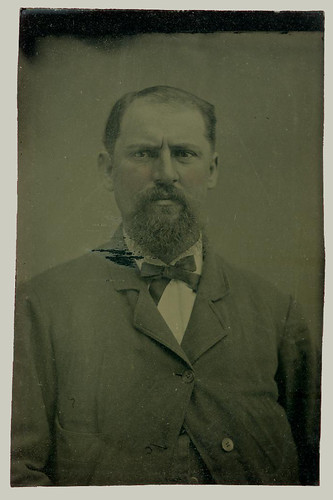 Tintype portrait of a man