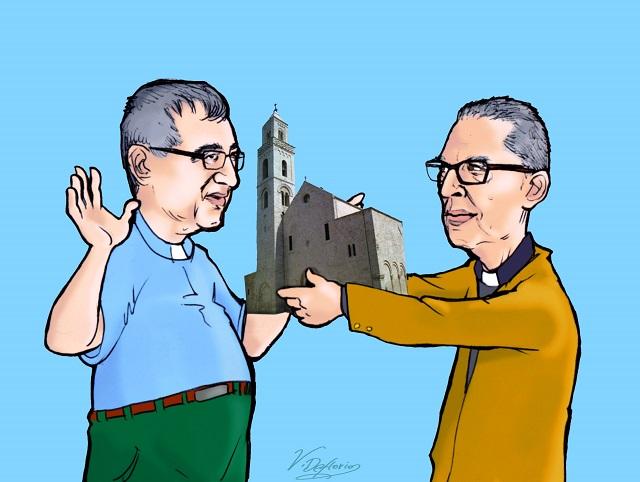 Noicattaro. Don Vito Campanelli e don Oronzo Pascazio vignetta intero