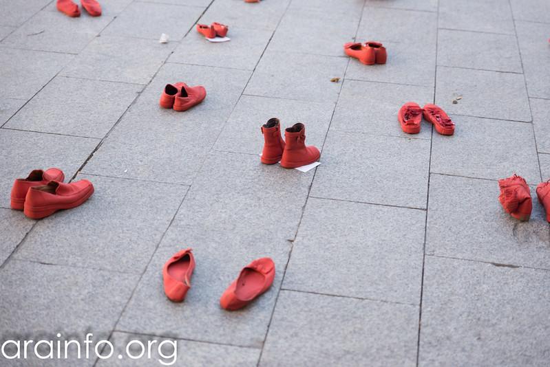 #ZapatosRojosZgz contra las violencias machistas
