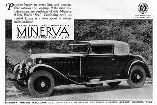 1930 Minerva 6-Litre Speed Six Drophead Coupe
