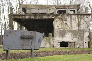 A bombed out guardhouse