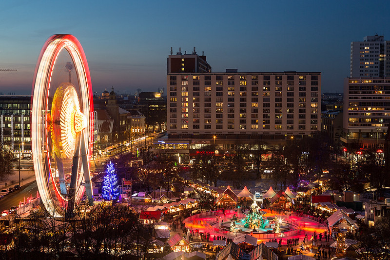 Christmas market in Berlin, Germany. Credit visitBerling & Wolfgang Scholvien