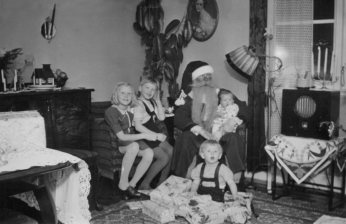 Christmas Eve in Stockholm, Sweden, 1941