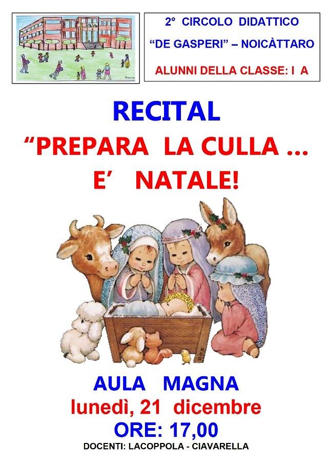 Noicattaro. Recital De Gasperi intero