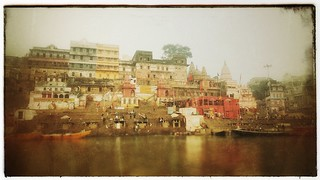 Ghats from the river, Veranasi