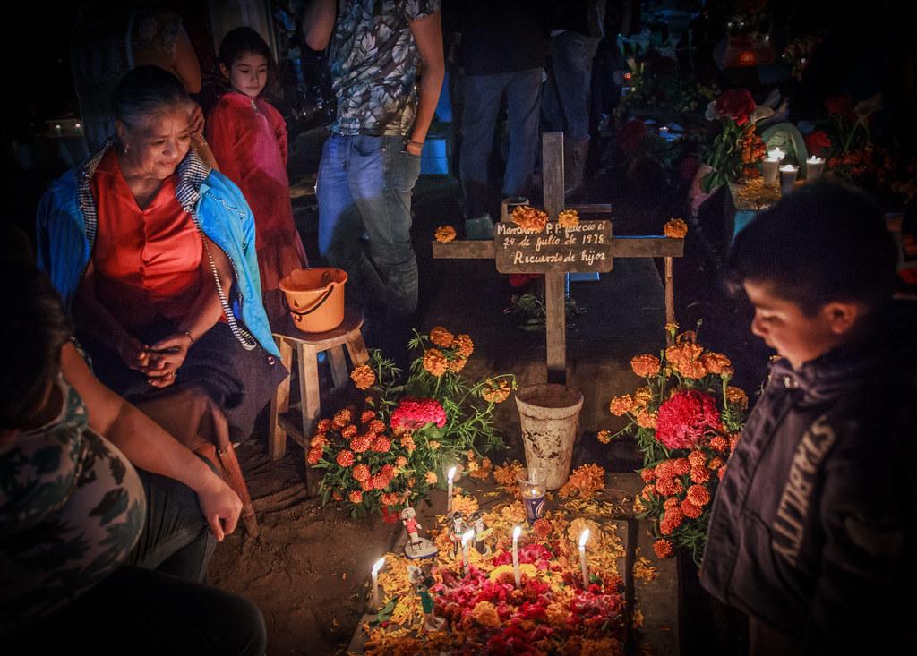 Family Reminiscing, Xoxocotlan Cemetery