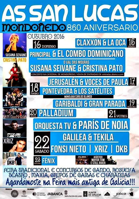 Mondoñedo 2016 - As San Lucas - programa
