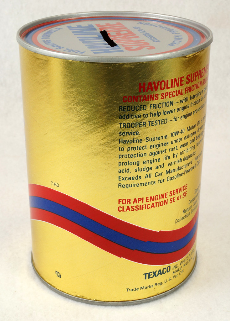 RD14906 Texaco Havoline Supreme Motor Oil Can Coin Bank DSC06458