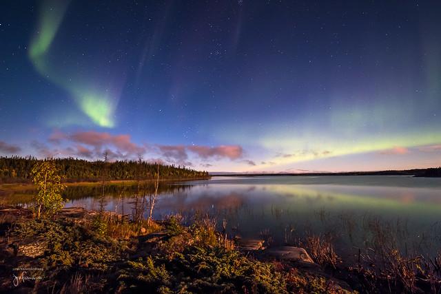 Moonlit Aurora Landscape