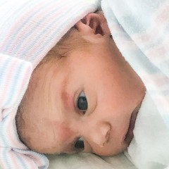 "Introducing Mia ""Belle"" Angelo, my new g'daughter.  #miabelle #blessings"