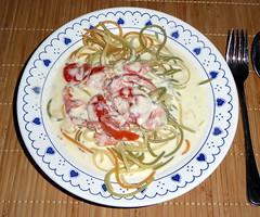 Spaghetti mit Gorgonzola-Tomaten-Soße