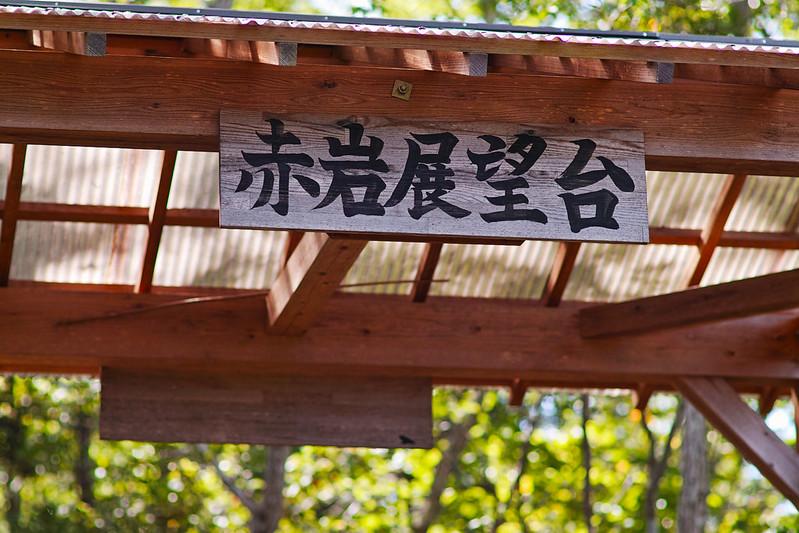 竜神大吊橋が一望できる赤岩展望台