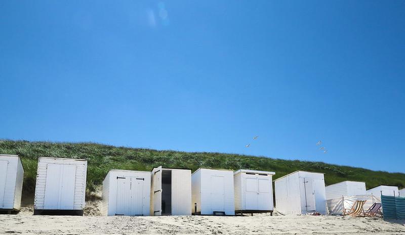 Strandhuisjes strand Domburg (21-07-2015).