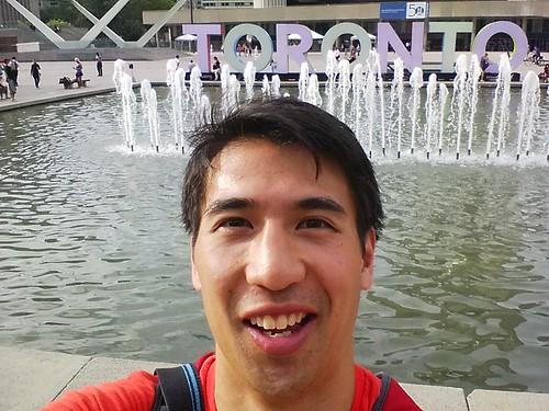 Outside Toronto city hall
