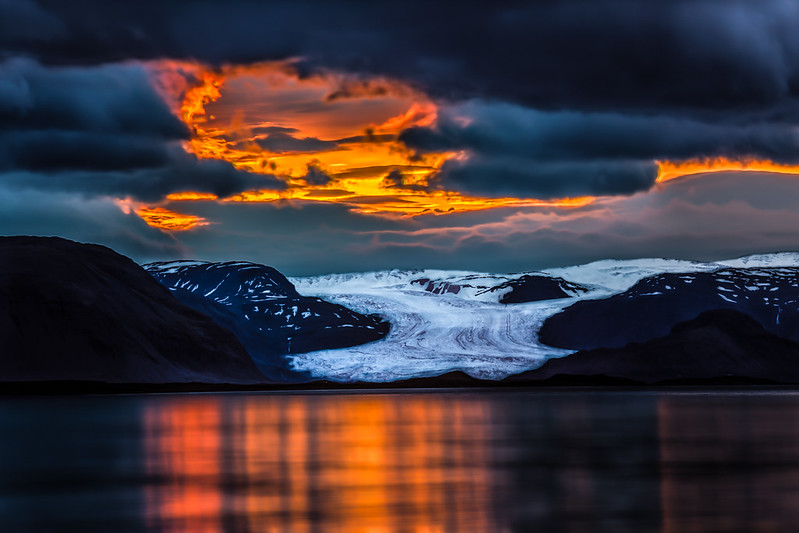 Ring of Fire over Glacier