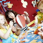 Children getting crafty | Young ones get crafty in our drop-in Story Box sessions © Helen Jones