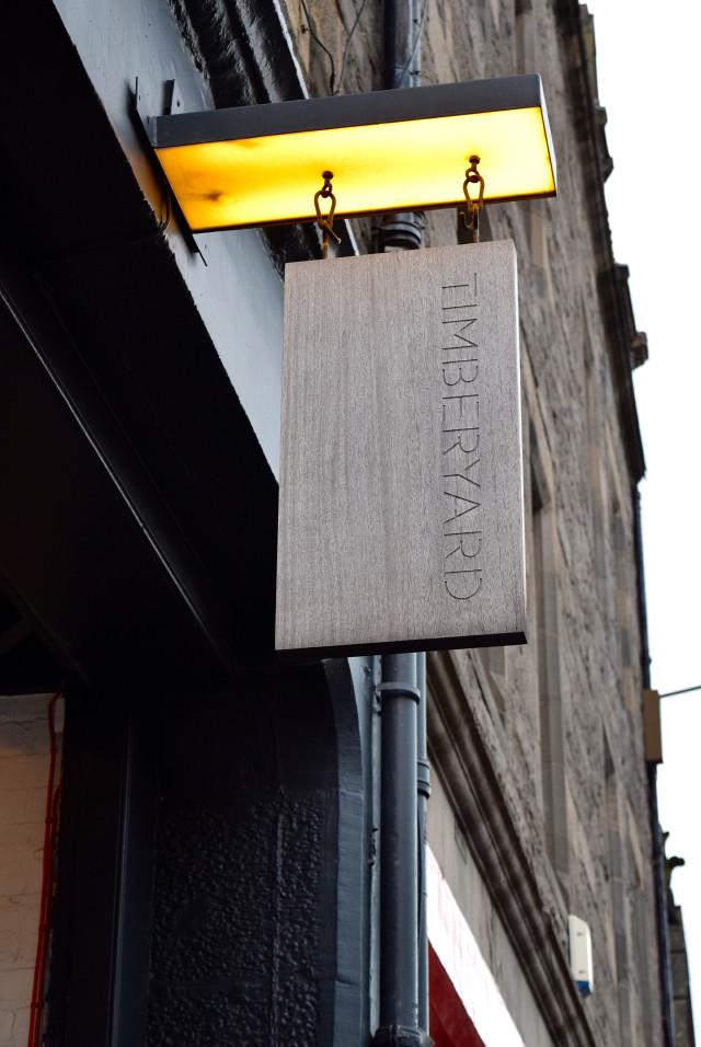 Timberyard Signage, Edinburgh