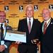 Antonis Papadopoulos, CIAM President; Bengt-Olof Samuelsson (SWE) - FAI Gold Aeromodelling Medal; FAI President Dr John Grubbström
