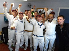 CHAMPIONS. Celebrating after beating Birstall to win Div 7 West. 5th Sept 2015.