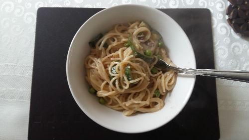 courgette /zucchini Mushroom pasta