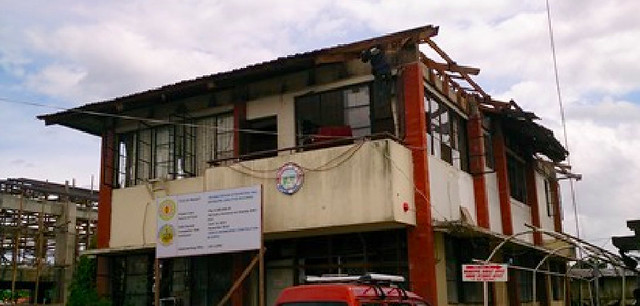 The Municipal Hall of La Paz sustained extensive damage during Super Typhoon Yolanda