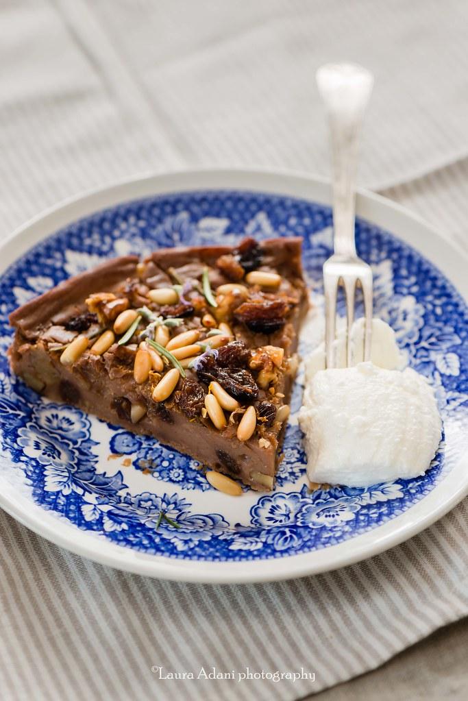 castagnaccio - chestnut cake