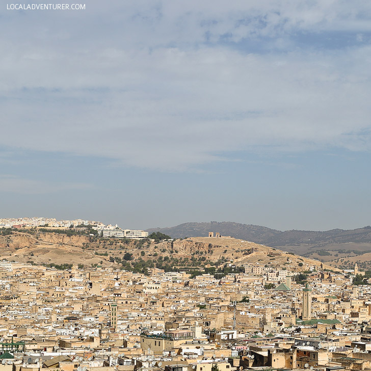 View of the City of Fez from Mount Zalagh (21 Amazing Things to Do in Morocco).