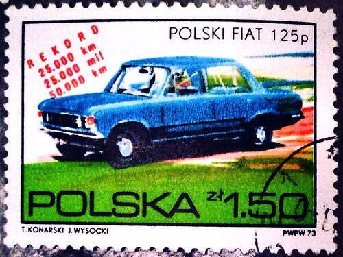 Polska 1973 stamp - Polski Fiat 125