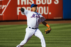 Ruben Tejada throws to first 3rdfds