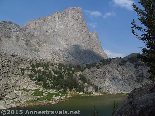 War Bonnet Peak over North Lake in Jackass Pass, Wind River Range, Wyoming