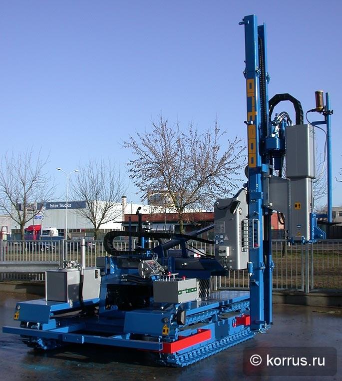 Машины для забивания стоек солнечных электростанций