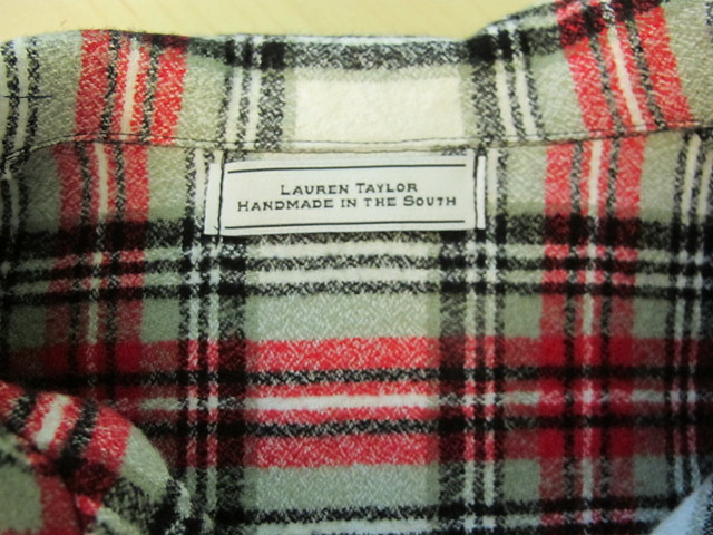 Flannel Carolyn PJs - label