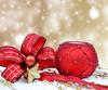 Colorful christmas decoration baubles