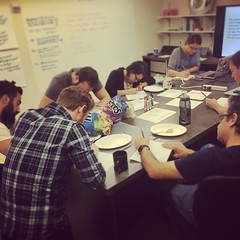 Today @rebeccamachamer is leading a UX workshop with our engineers and PM to explore new ideas. #tmculture