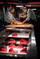 Cutting The Tuna, Tsukiji Fish Market, Tokyo