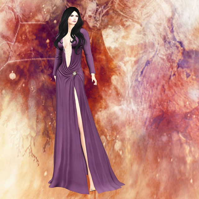 Just Because - Maya Gown purple