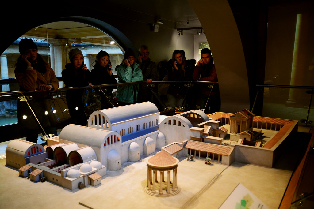 Roman baths model