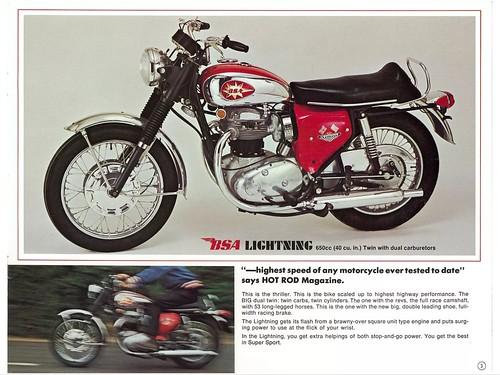 1968 BSA Motorcycle Brochure