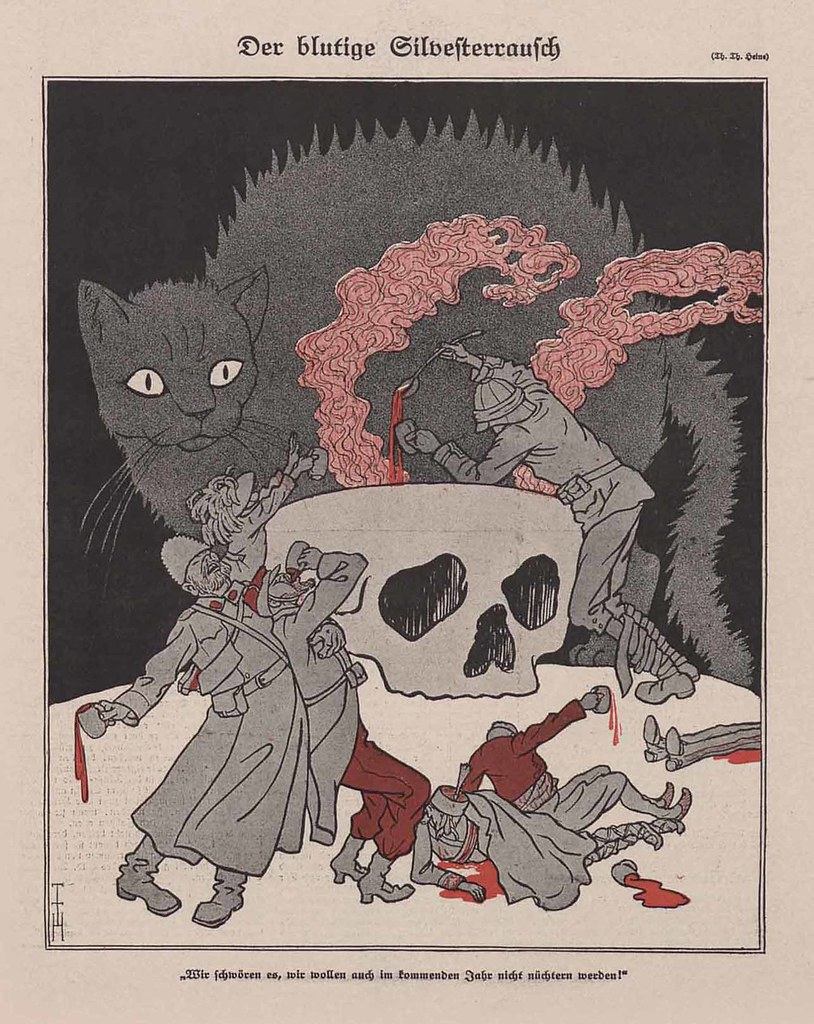 Thomas Theodor Heine - Bloody New Year, 1915