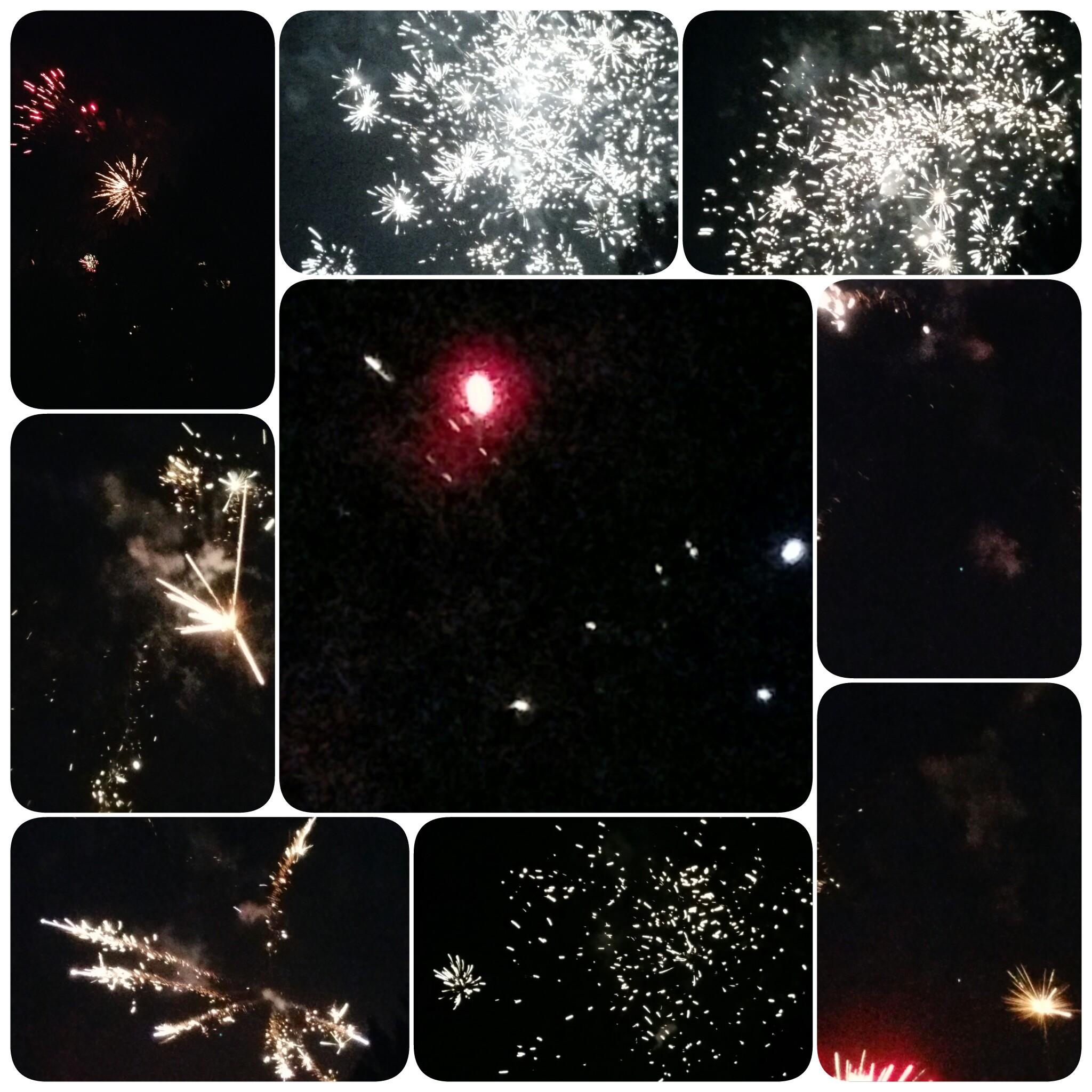 Feuerwerk über Königshardt