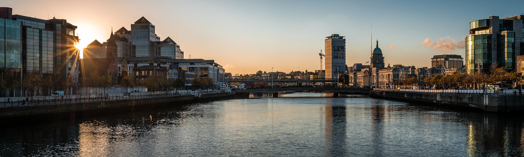 Cityscape at sunset, Dublin, Ireland picture