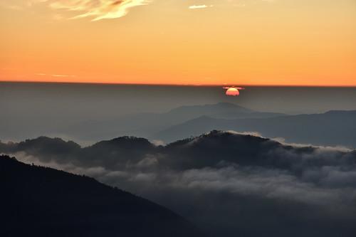 雪山雪東線-369山莊前的日出