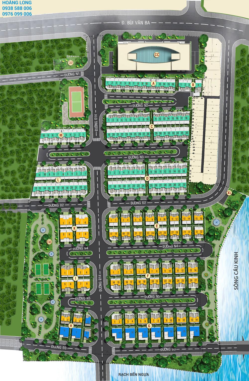 Phân lô chi tiết dự án Jamona Golden silk quận 7.