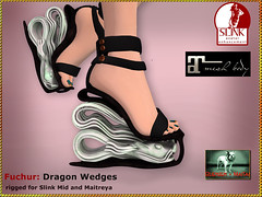 Bliensen - Fuchur - Dragon Wedges - Shoes for Slink & Maitreya