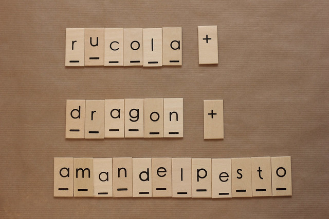 rucola dragon amandelpesto