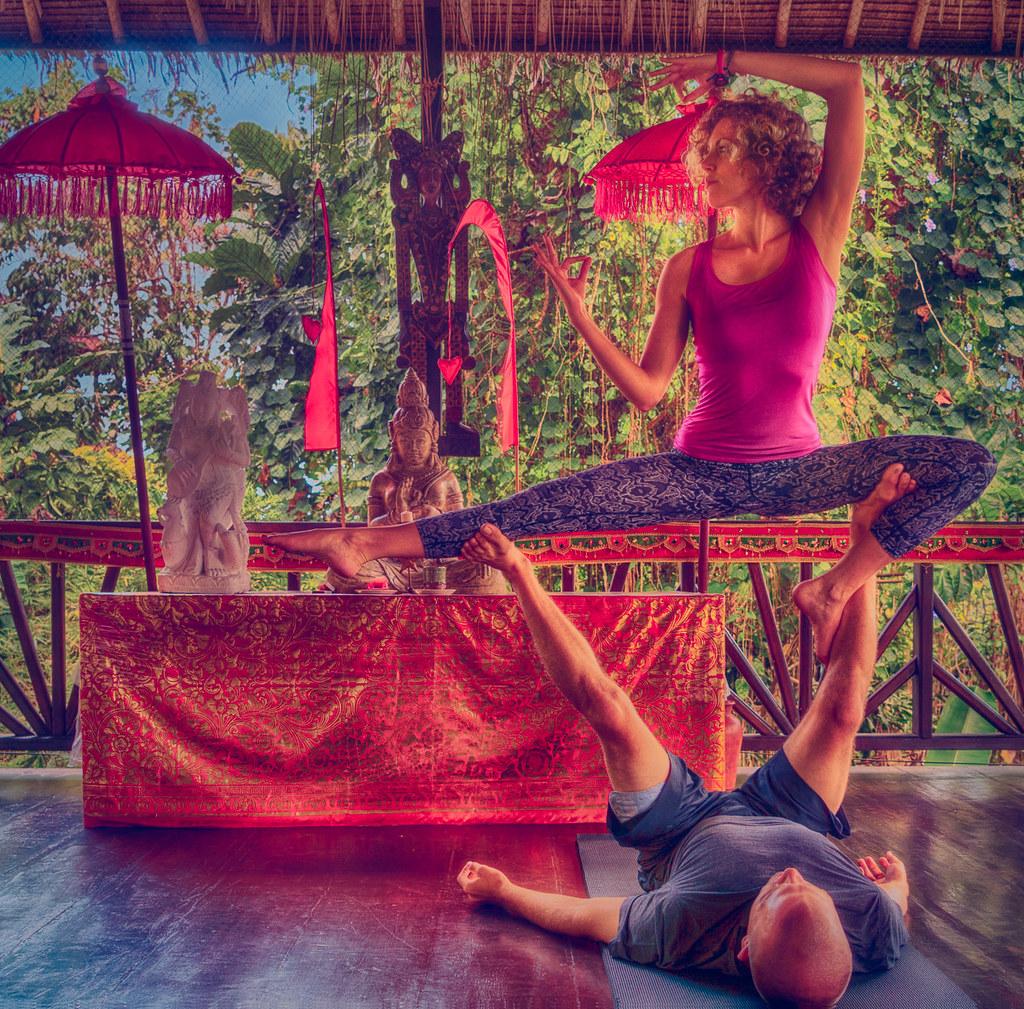 Flexibility Drills in Bali, Indonesia