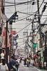 Busy street on a spring weekend. Shimokitazawa, Tokyo Japan.