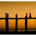 Sunset on Ubein bridge